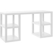 Altra Furniture Altra Parsons Deluxe Desk, White, White