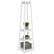 Best Choice Products Home Furniture Standing 3-Tier Shelves Storage Coat Rack