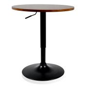 Krei Hejmo Adjustable Round Dining Bar Table with Metal Base VERŜO LINIO