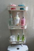 3-Tier Standing Rack EXILOT Bathroom Organiser, Over the Toilet Storage, Kitchen Countertop Spice Jars Bottle Shelf Holder.
