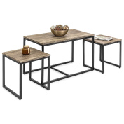 Best Choice Products 3-Piece Nesting Coffee and End Table Set