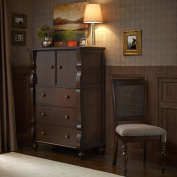 Madison Park Signature Beckett Highboy Chest Morocco Brown See below