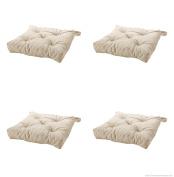 Ikeas MALINDA Chair cushion, light beige-4 Pack