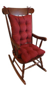 The Gripper Non-Slip Rocking Chair Cushion Set Honeycomb, X-Large, Red