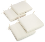 Blazing Needles Twill 48cm by 50cm by 8.9cm Zippered Cushions, Egg, Set of 4