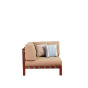 Amazonia Portugal Eucalyptus Sectional Corner Piece with Khaki Cushions by Jamie Durie