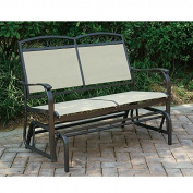 Outdoor Patio Swing Glider Loveseat Bench Aluminium Frame / Fabric