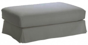 Cotton Hovas Ottoman Cover Replacement, For Ikea Hovas Footstool Slipcover. Cover Only!