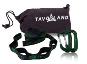 . Hammock Straps for Trees - 36 Loops - 6.1m Long - Best Quality Aluminium Carabiners Clips - Extra Triple Stitching - No Stretch Heavy Duty Adjustable Tree Straps for Camping Hammocks
