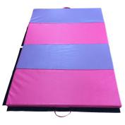 Tenive 1.2mX 1.8mX 5.1cm Pu Leather Gymnastic Exercise Mat Tumbling Mat Gym Folding Panel Martial Art Mat -4 Colours