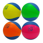 Macro Giant 15cm Safe Soft Foam Training Practise Basketball, Set of 4, Playground Ball, Kid Sports Toys, Neon Colours, Kid Toy Gift, Birthday Gift, New Year Gift
