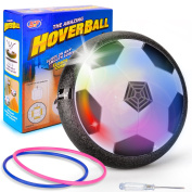 Kids Toy Soccer Air Power Disc hover ball Olycism Gift Boy girl Training Football Flash LED Lights Sport Children Novelty Toys Hover Disc Ball for Indoor and Outdoor parent-child interaction