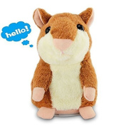 Talking Hamster, JCBABA Talking Hamster Repeats What You Say Electronic Pet Talking Plush Buddy Hamster for Children Christmas Xmas Gift
