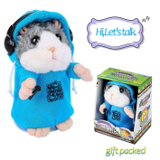 Talking Hamster Repeats What You Say, Cute Plush Electronic Mimicry Hamster Toy with Interactive Function, Gift for Kids Birthday and Parties
