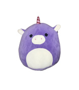 Kellytoy Squishmallow 20cm Astrid the Purple Unicorn Super Soft Plush Toy Pillow Pet