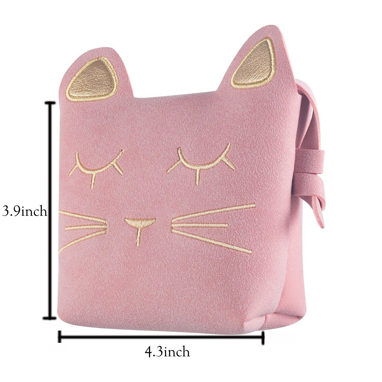 5002295b3e83 Deoot Little Girls Purses Pink Cute Cat Shoulder Crossbody Bag for ...