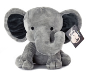 KINREX Elephant Plush - Elephant Stuffed Animal - Baby Toys - Measures 23cm - Grey