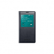 Samsung S-View Flip Cover for Samsung Galaxy S5 Black - Retail Packaging - Black