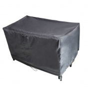 M & H Patio Bench Seat Cover Premium Heavy Duty Waterproof TPU Fabric - Fits Bench Chairs, Rockers, and Gliders, Durable and Fade Resistant, 58 x 80cm x 80cm , Gunmetal