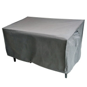 M & H Heavy Duty Waterproof Large Bench and Loveseat Patio Cover - Outdoor Furniture Cover with Padded Handles and Durable Hem Cord, Fits 2-Seat Bench, 58 x 80cm x 80cm , Taupe