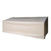 Abba Patio 3-Seat Patio Wicker/Rattan Deep Lounge Sofa Cover, Water Resistant, Tan