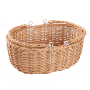 Kingwillow, Wicker Picnic Basket Hamper with Double Folding Handles, Oval Storage Basket with Handles.
