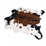 Brown Cow Print Rug 140cm Wx 62.23cm L Faux Cowhide Rugs Cute Animal Printed Carpet For Home