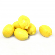 ALEKO 6AFLEM Decorative Realistic Artificial Fruits - Package of 6 Lemons