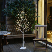 EAMBRITE 1.8m 88LT Warm White LED Light Winter Birch Wedding Home Decorative Tree Light for Indoor and Outdoor Use