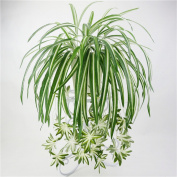 Crt Gucy Artificial Plants Silk Greenery Chlorophytum Leaves Tropical Grass Fake Plants For Home Kitchen Dining Table Garden Wedding Mini Pot Outdoor Décor