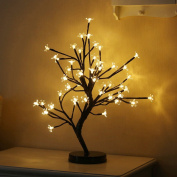 LED Blossom Tree, YUNLIGHTS 45cm 48 LEDs Decorative Lighted Desk Top Bonsai Tree 8 Mode Cherry Light Up Trees for Home Wedding Party Indoor Outdoor