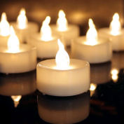 12 Tea Lights Led Flickering with Timer (6 hours on, 18 hours off), Mini Flameless Candles Tea Lights Battery Operated Flickering Warm White for Wedding Camping Party Thanksgiving Church Decorations