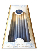 Handcrafted and Dripless Blue and White Chanukah Candles, 45 Candles From Safed, Israel