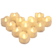 AMIR Flameless Candles, 12 PCS LED Tea Lights with Timer, Flickering Votive Candles for Christmas Thanksgiving Halloween Party Wedding Festival Celebration & Decoration, Battery Included