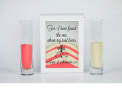 Sand Ceremony Set, For I Have Found the One Whom My Soul Loves, Shadow Box Wedding, Vow Renewal, Unity Sand Ceremony Set, Beach Wedding Decor, Unity Candle Set,