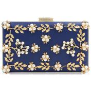 Milisente Women Clutches Flower Pearl Beaded Clutch Bags Wedding Evening Bag