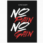 Gym Diary, No Pain - No Gain, A5, 80 Page, Durable, Slim Line, Gym Friendly with PVC Cover
