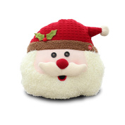 Final Clearance! Christmas Animated Musial Flappy Santa Throw Pillow Plush, Singing and Dancing Holly Jolly Santa Decorative Pillow for Xmas Christmas Home Household Ornament, 29cm