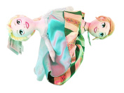 Frozen Elsa and Anna Topsy Turvy 36cm Plush Doll Authentic Disneyland Park Exclusive