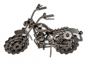 Creative Retro Iron Handmade Metal Motorcycle Model, Creative Desk Table Decoration Ornaments,Home Décor Collectible Vehicles