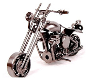 Motorcycle decor, Handmade Motorcycle Model Collectible Art Sculpture Motorbike For Home Decor