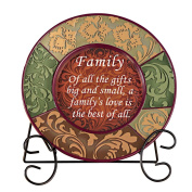 Decorative Inspirational Plate with Display Stand, Family
