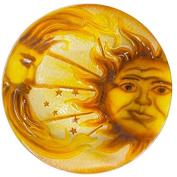 Continental Art Centre 46cm sun and moon glass plate