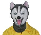 BuBinga Novelty Husky Dog Mask Animal Mask Head Latex Masks Halloween Party Cosplay