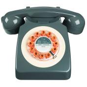 Wild Wood 746 Phone, Retro Design, Concrete Grey