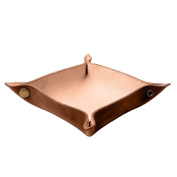 Rustic Leather Catchall Change Key Wallet Coin Box Tray Storage Valet Handmade by Hide & Drink :