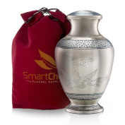 """""""Wings of Freedom"""" Brass Cremation Urn for Human Ashes - Affordable Funeral Urn Adult Urn for Ashes Handcrafted Urn"""