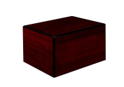 Chateau Urns Society Collection, Wood Urn, Large Adult Cremation Urn, Cherry wood finish