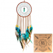 Indian Dream Catcher Handmade Wall Hanging Home Decor Dream Catcher with Feathers Dia 13cm