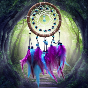 Handmade Indian Real Feathers Dream Catcher Wall Hanging Car Hanging Decoration Ornament gift